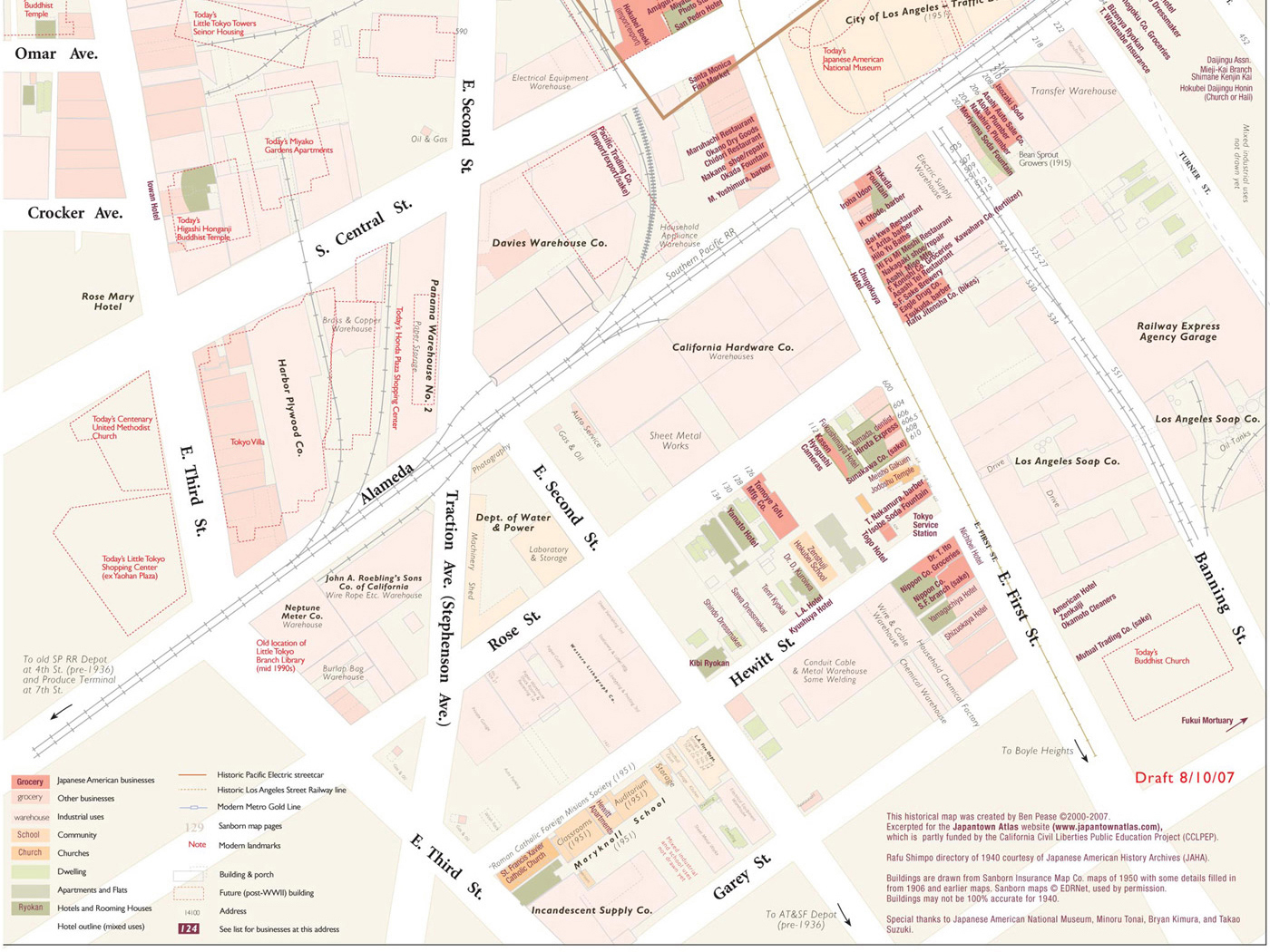 Little Tokyo Los Angeles Map