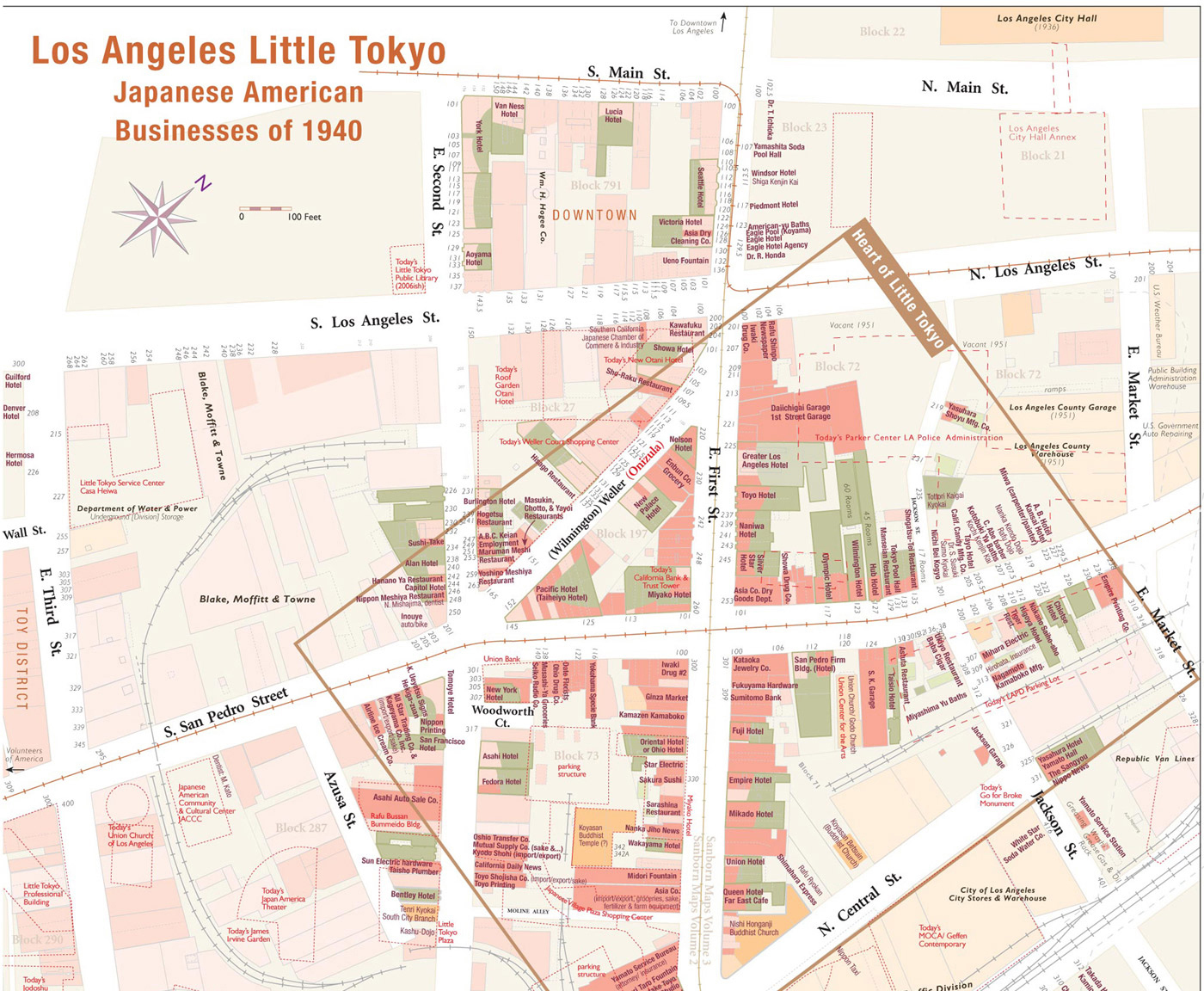 Little Tokyo Detail Map (normal view)