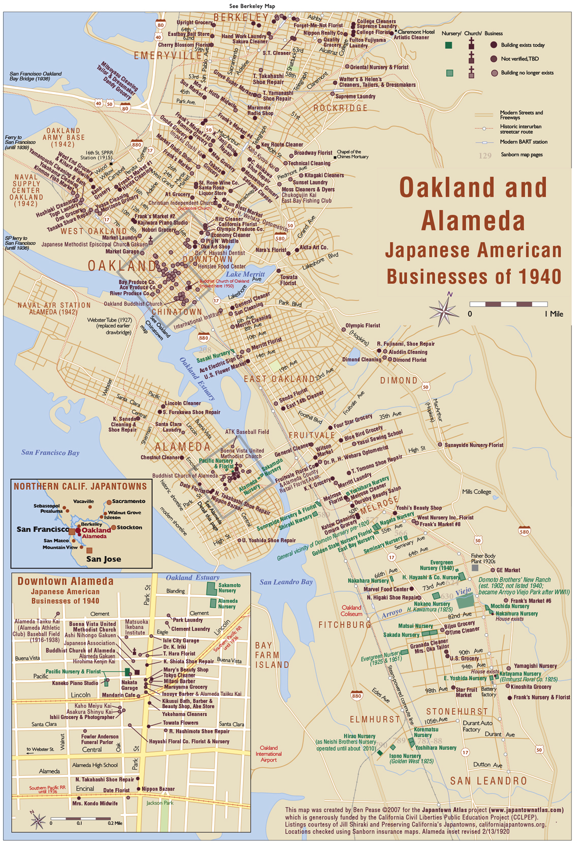 Oakland & Alameda Map on bonita park la habra ca, shooting in la habra ca, food la palma ca, map of la costa ca, 3460 la palma anaheim ca, street map of south la,