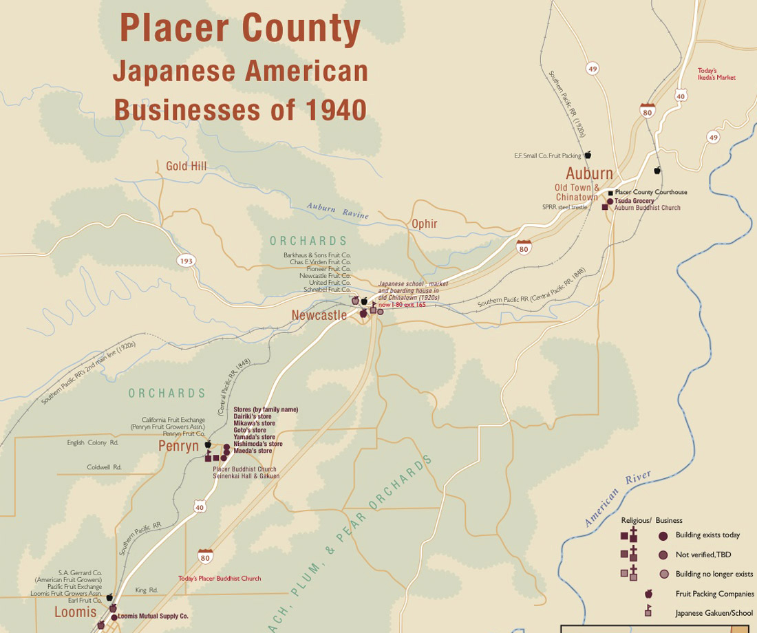 Placer County Japantown Map